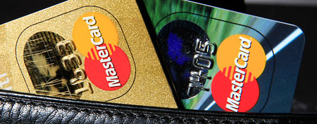 Credit cards by Mastercard in a wallet (AP file photo)