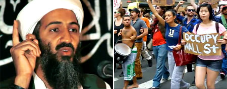Osama bin Laden and Occupy Wall Street protesters (Trending Now)