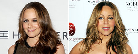 (L-R) Alicia Silverstone (Jason Merritt/Getty Images), Mariah Carey (Stuart Wilson/Getty Images)