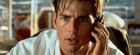 "In this undated film publicity image originally released by Columbia Tri-Star, Tom Cruise is shown in a scene from ""Jerry Maguire."" (AP Photo/Columbia Tri-Star, file)"