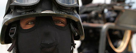 File photo of a federal policeman in Mexico City (AP)