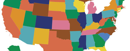 Map of United States (Who Knew? on Yahoo!)