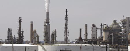 An oil refinery in operation in Philadelphia in 2007. (AP Photo/Rusty Kennedy)