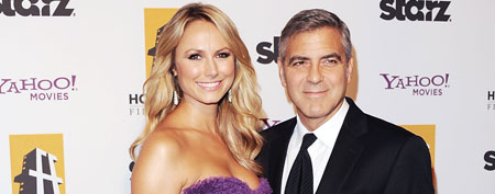 Stacy Keibler and George Clooney (Jon Kopaloff/FilmMagic)
