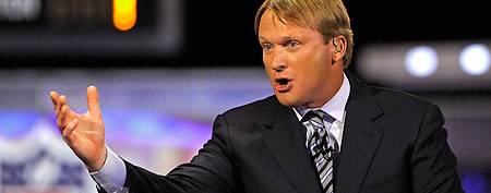 ESPN analyst Jon Gruden. (Howard Smith-US PRESSWIRE)
