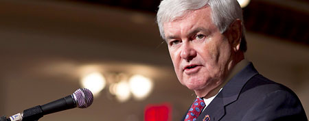 Newt Gingrich speaks during a town hall meeting, Thursday, Jan. 5, 2012, in Littleton, N.H. (AP/Evan Vucci)