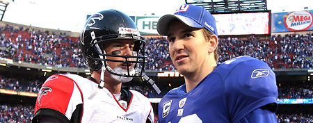 Matt Ryan, Eli Manning (Getty Images)