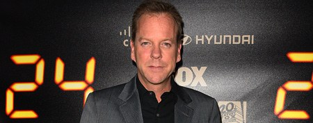 Actor Kiefer Sutherland attends the '24' series finale party at Boulevard3 on April 30, 2010, in Hollywood, Calif. (Photo by Jason LaVeris/FilmMagic)