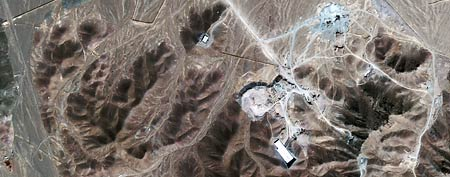 Satellite image provided by GeoEye shows a facility under construction inside a mountain located about 20 miles north northeast of Qom, Iran. (AP/GeoEye Satellite Image, IHS Jane's Analysis, File)