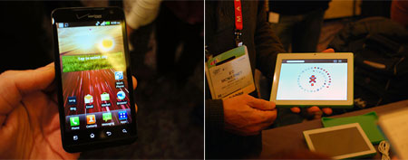 (L-R) LG Dual-OS Phone; OLPC XO-3 Tablet (Photos: Popular Mechanics)
