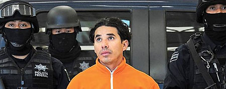 Harold Mauricio Poveda-Ortega, a suspected Colombian cocaine trafficker, was arrested in Mexico in 2010. (Reuters)