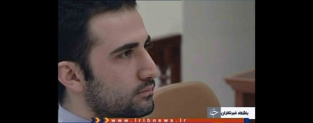 U.S. citizen Amir Mirzaei Hekmati sits in Tehran's revolutionary court, in Iran on Tuesday, Dec. 27 2011. (AP Photo/IRIB)