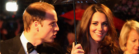 Prince William, Duke of Cambridge and Catherine, Duchess of Cambridge attend the UK premiere of War Horse at Odeon Leicester Square on January 8, 2012 in London, England. (Photo by Tim Whitby/Getty Images)