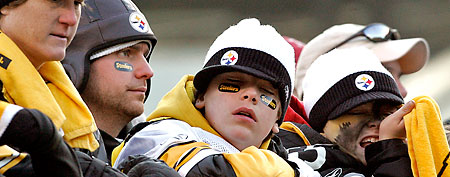 Sad Pittsburgh Steelers fans. (AP Photo/Keith Srakocic)