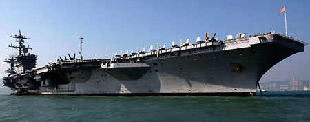 The aircraft carrier USS Carl Vinson (AP)