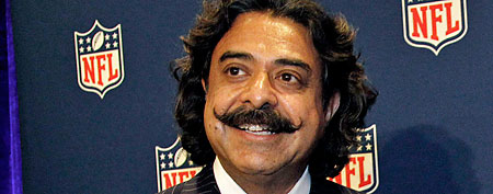 New Jacksonville Jaguars owner Shahid Khan concludes a news conference at the NFL owners meeting in Irving, Texas, Wednesday, Dec. 14, 2011. The sale from franchise founder Wayne Weaver to the Pakistani-born Khan was unanimously approved Wednesday. The deal reportedly is for $760 million. (AP Photo/LM Otero)