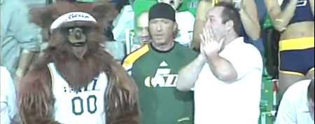 Utah Jazz mascot (YouTube.com)