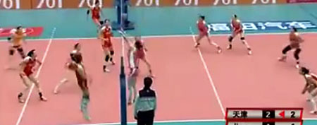 Volleyball match (YouTube.com)