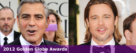 (R-L) Brad Pitt (Frazer Harrison/Getty Images); George Clooney (Jeff Vespa/WireImage)