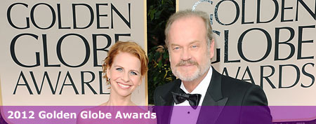 Actor Kelsey Grammer (R) and wife Kayte Walsh arrive at the 69th Annual Golden Globe Awards held at the Beverly Hilton Hotel on January 15, 2012 in Beverly Hills, California. (Photo by Jason Merritt/Getty Images)