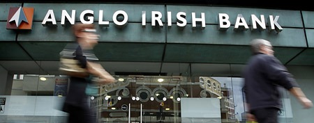A branch of the Anglo Irish Bank in Belfast, Northern Ireland, Wednesday, Sept. 1, 2010. (AP)