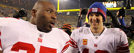 Brandon Jacobs, Eli Manning (Getty Images)