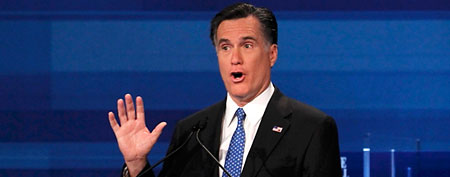 Mitt Romney at the South Carolina Repulican debate (Reuters)