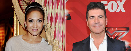 (L-R) Jennifer Lopez (Photo by Denise Truscello/WireImage), Simon Cowell (Photo by Mark Davis/Getty Images)