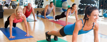 Exercise class. (Thinkstock)