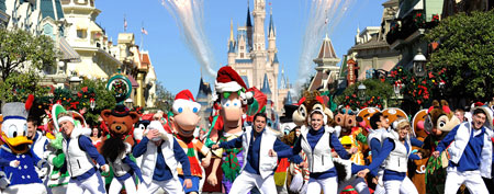 Disneyworld Christmas parade. (Photo by Mark Ashman/Disney via Getty Images)