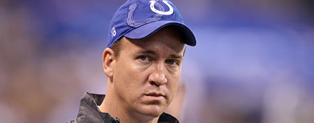 Peyton Manning of the Indianapolis Colts (Photo by Andy Lyons/Getty Images)