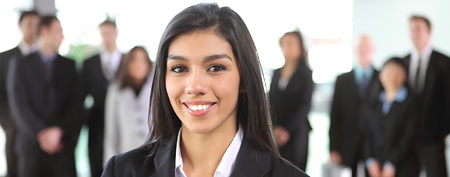 Smiling young woman (Thinkstock)