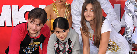 Prince Michael Jackson, Blanket Jackson, and Paris Jackson attend the immortalization of Michael Jackson at Grauman's Chinese Theatre Hand & Footprint ceremony held at Grauman's Chinese Theatre on January 26, 2012 in Los Angeles, California. (Photo by Lester Cohen/WireImage)