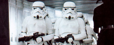 "Stormtroopers from ""Star Wars"" (Mary Evans/LUCASFILM/C20TH FOX/Ronald Grant/Everett Collection)"