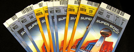 Super Bowl tickets (AP Photo/Tim Donnelly)