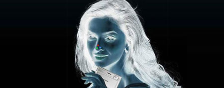 Negative afterimage illusion.