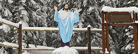 Jesus statue. (Whitefish Mountain Resort)