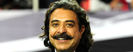 Owner Shahid Khan of the Jacksonville Jaguars is shown before the game against the Atlanta Falcons at the Georgia Dome on December 15, 2011 in Atlanta, Georgia. (Photo by Scott Cunningham/Getty Images)