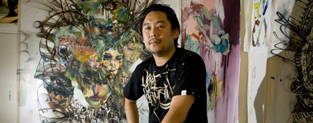 David Choe in his studio. (Getty Images)