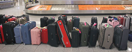 Bags at Atlanta's Hartsfield-Jackson International Airport. (AP Photo/David Goldman, file)