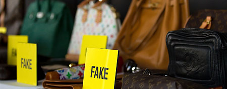 A general view of fake bags at Harper's Bazaar Annual Anti-counterfeiting Summit at Hearst Tower on April 26, 2011   in New York City. (Photo by Dario Cantatore/Getty Images)