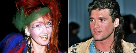 Cyndi Lauper (L), Billy Ray Cyrus. (Ron Galella/WireImage, Jeff Kravitz/FilmMagic)