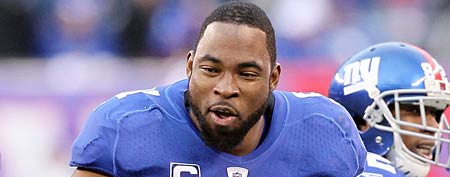 Justin Tuck #91 of the New York Giants (Photo by Nick Laham/Getty Images)