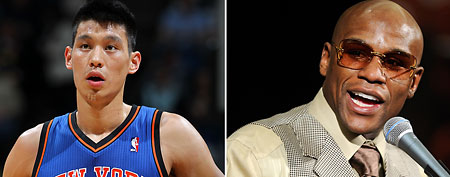 Jeremy Lin, Floyd Mayweather (Getty Images)
