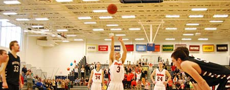 Cory Weissman attempts his second free throw Saturday night (Photo courtesy Gettysburg College)