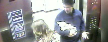 Surveillance video of Douglas Kennedy and nurses (via GMA)