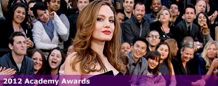 Actor Angelina Jolie arrives at the 84th Annual Academy Awards held at Hollywood & Highland Centre on February 26, 2012 in Hollywood, California. (Photo by Dan MacMedan/WireImage)