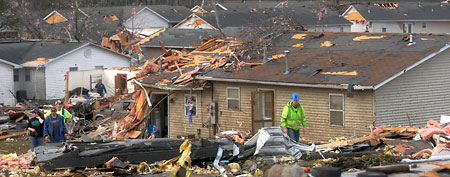 Tornado damage in Harrisburg, Ill. (AP)