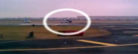 High-speed chase on runway (GMA)