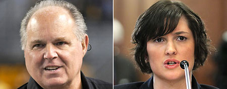 Rush Limbaugh, Sandra Fluke. (ABC News)